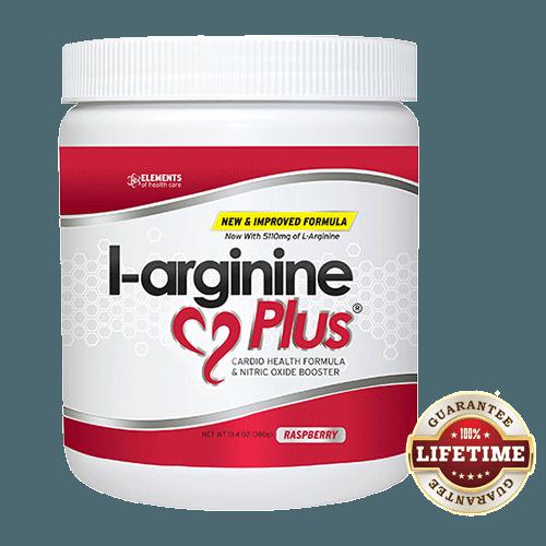 Bottle of L-arginine Plus