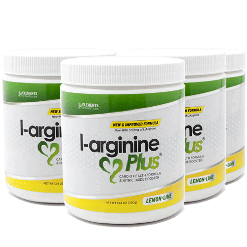 4 Bottles of L-arginine Plus Lemon Lime