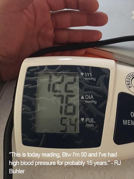 L-arginine Plus® Blood Pressure Reading.