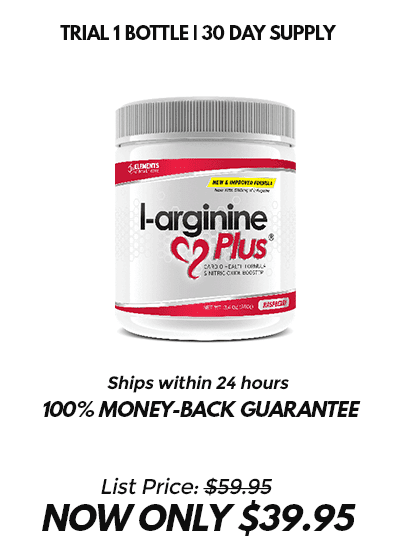 Single red bottle of L-arginine Plus 30 day supply $39.95