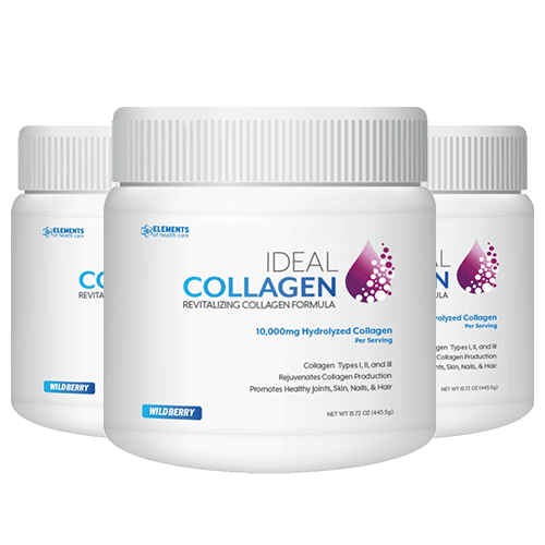 Hydrolyzed Collagen - Ideal Collagen 3 Bottles