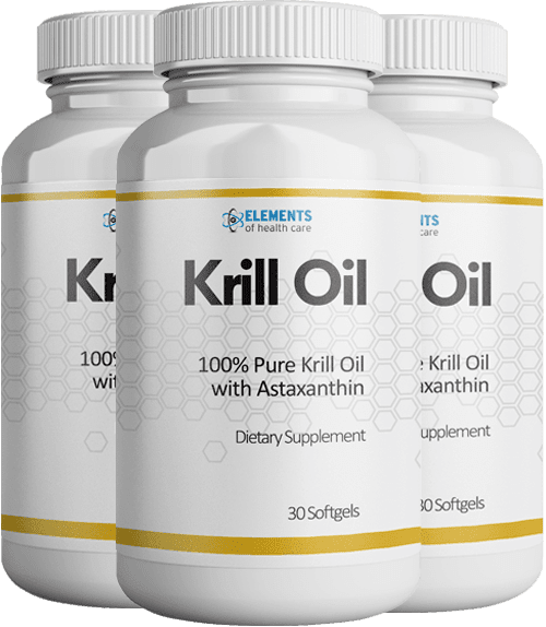 3 Bottles of Krill Oil with Astaxanthin