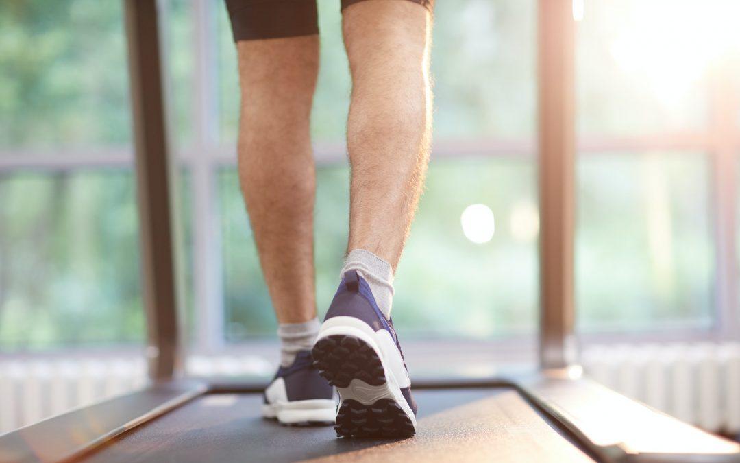 Legs Running on Treadmill
