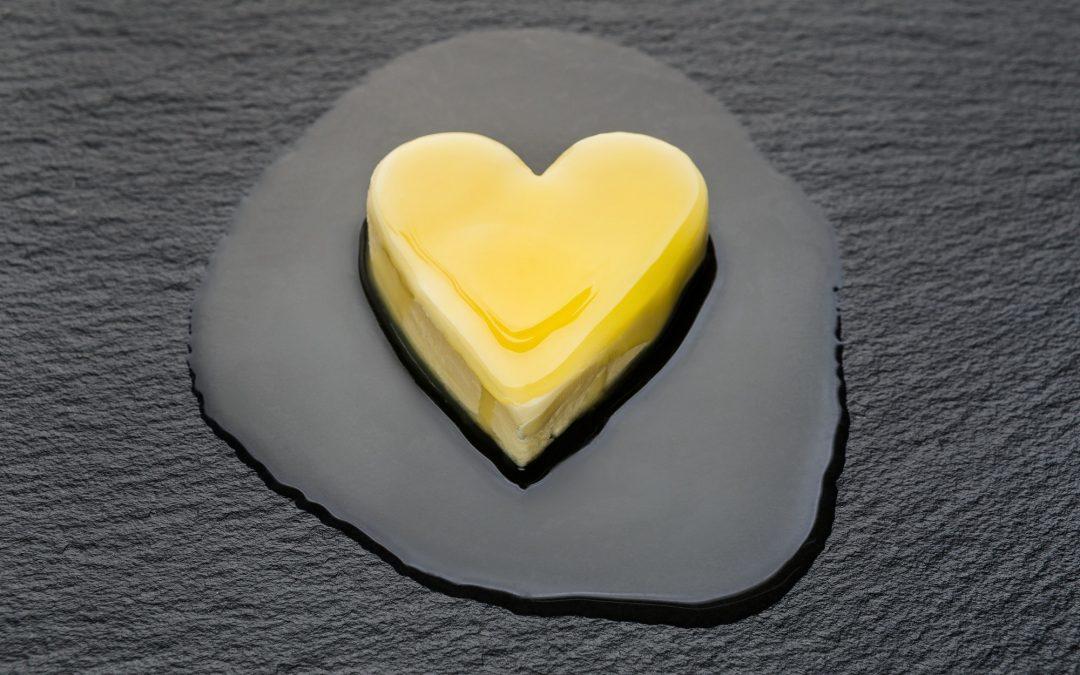 Melting butter heart