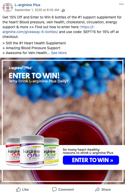September L-arginine Plus Giveaway