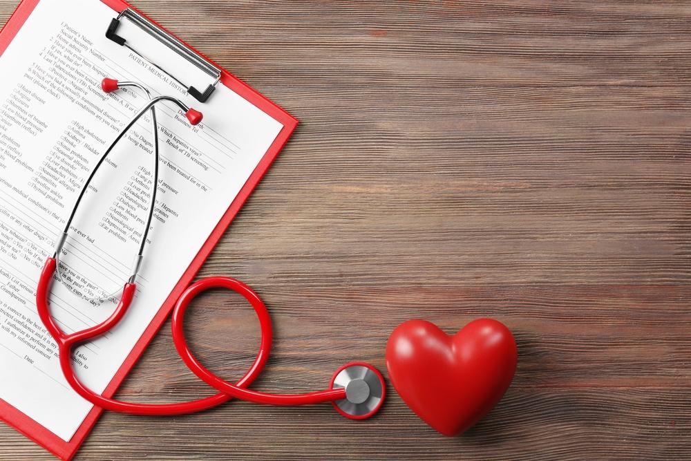 chart and stetoscope