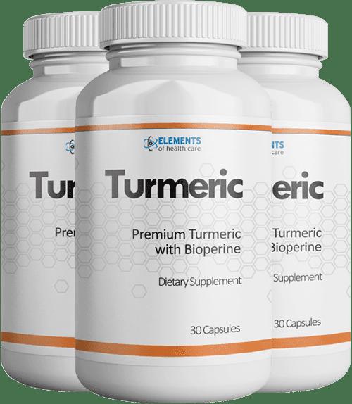 3 Bottles of Turmeric