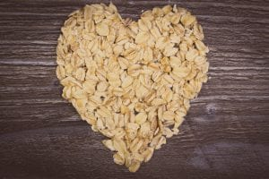 Vintage photo, Heart of oat flakes
